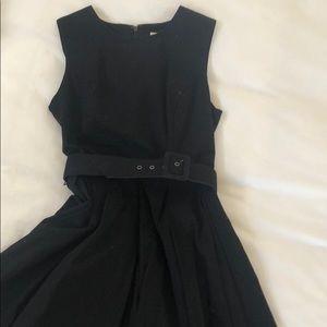 BB DAKOTA Black dress w/belt.